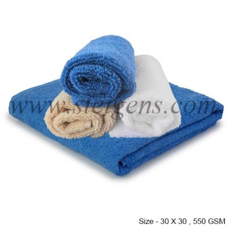 face towel blue